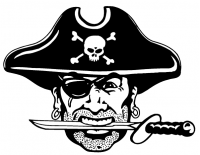 CUSTOM PIRATES MASCOT DECALS AND PIRATES MASCOT STICKERS