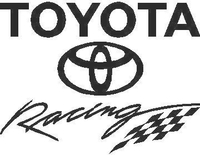 Toyota Racing Decal / Sticker 02