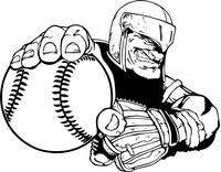 Knights Baseball Mascot Decal / Sticker