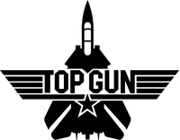 Top Gun Decal / Sticker 05
