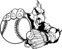 Baseball Cardinals Mascot Decal / Sticker