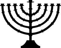 Menorah Decal / Sticker 01