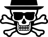 Breaking Bad Heisenberg (Walter White) Skull Decal / Sticker 20
