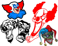 Clown Decals and Clown Sticker