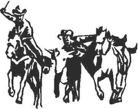 Cowboy Decal / Sticker 03