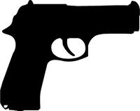 Baby Eagle Gun Decal / Sticker 01