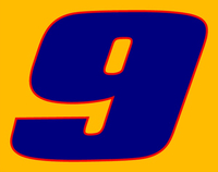 9 Race Number 2 COLOR Decal / Sticker c