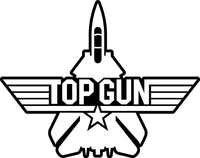 Top Gun Decal / Sticker 07