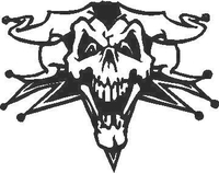 Jester Skull Decal / Sticker