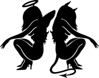 Angel and Devil Decal / Sticker 05