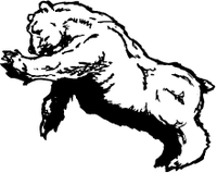 Bear Scratching Mascot Decal / Sticker