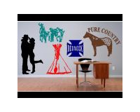 COWBOY and WESTERN WALL DECALS and WALL STICKERS