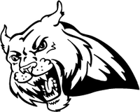 Bobcat Mascot Decal / Sticker