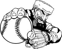Baseball Frontiersman Mascot Decal / Sticker