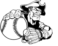 Patriots Baseball Mascot Decal / Sticker