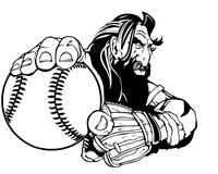 Titans Baseball Mascot Decal / Sticker
