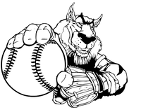 Wolves Baseball Mascot Decal / Sticker