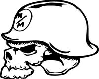 Metal Mulisha Skull Decal / Sticker 02