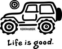 Life Is Good Jeep Decal / Sticker 01