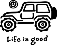 Life Is Good Jeep Decal / Sticker 02
