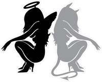 Angel and Devil Decal / Sticker 04