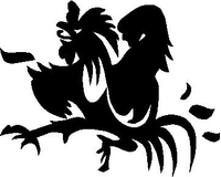 Rooster Decal / Sticker 03