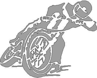 Dirt Track Cycle Decal / Sticker Design 1