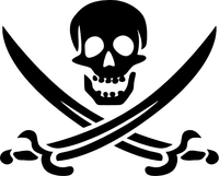 Jolly Roger Flag Decal / Sticker 23