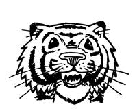 Tigers Mascot Decal / Sticker 7