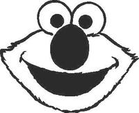 Elmo Decal / Sticker 02