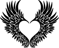 Heart Wings Decal / Sticker 08