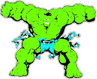 Hulk Decal / Sticker 07
