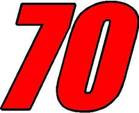 70 Race Number 2 Color Impact Font Decal / Sticker