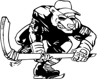 Hockey Bear Mascot Decal / Sticker