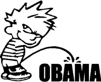 Z1 Pee On Obama Decal / Sticker 02
