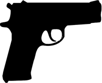 1911 Commander Gun Decal / Sticker
