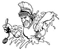 Trojans Swimming Mascot Decal / Sticker
