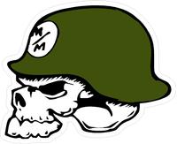 Metal Mulisha Skull Decal / Sticker 06