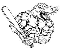 Baseball Gators Mascot Decal / Sticker 4