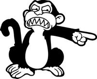 Family Guy Evil Monkey Decal / Sticker 04