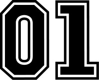 01 Number Decal / Sticker