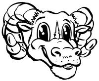Rams Mascot Decal / Sticker 1