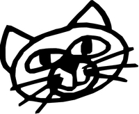 Cat Decal / Sticker 09