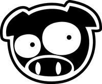 PIG DECALS and PIG STICKERS
