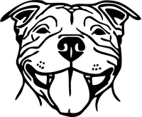 Pitbull Decal / Sticker 14