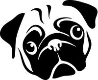 Pug Decal / Sticker 01