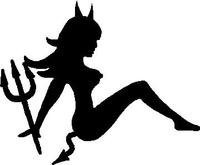 Mudflap Devil Girl Decal / Sticker