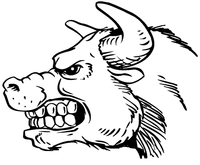 Bull Mascot Decal / Sticker 3