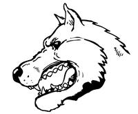 Huskies Mascot Decal / Sticker 2