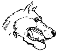 Wolves Mascot Decal / Sticker 8